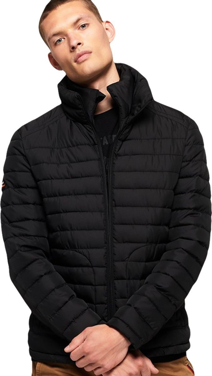 Superdry Fuji Double Zip Puffer Jacket Black