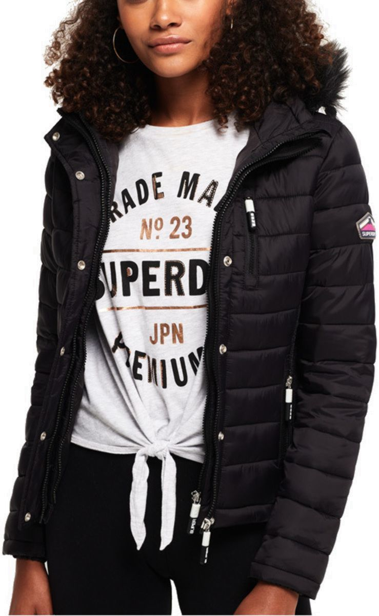 Superdry Fuji Slim Double Zip Hooded Puffer Jacket
