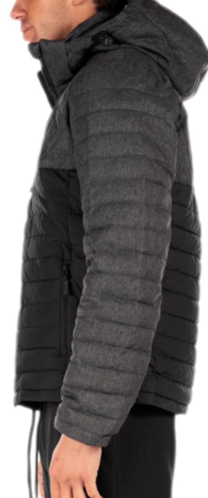 Superdry Fuji Tweed Mix Jacket	Charcoal Herringbone