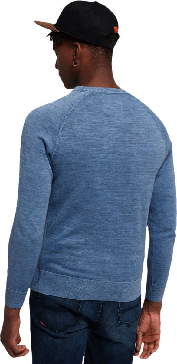 Superdry Garment Dye L.A Knit Jumper Blue