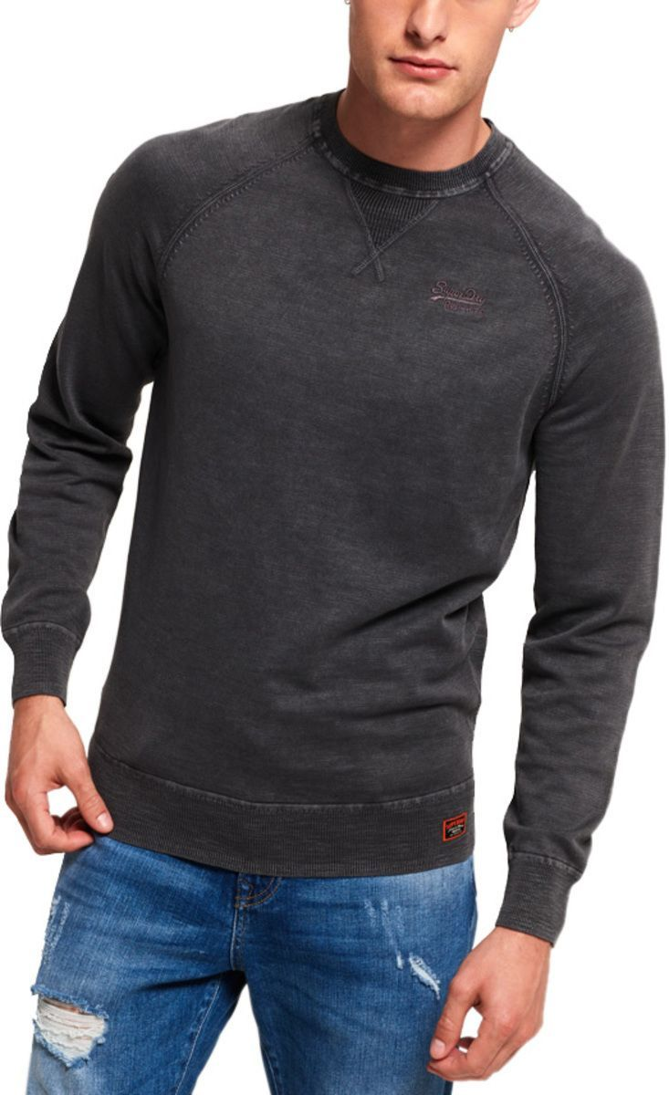 Superdry Garment Dye L.A Knit Jumper Black