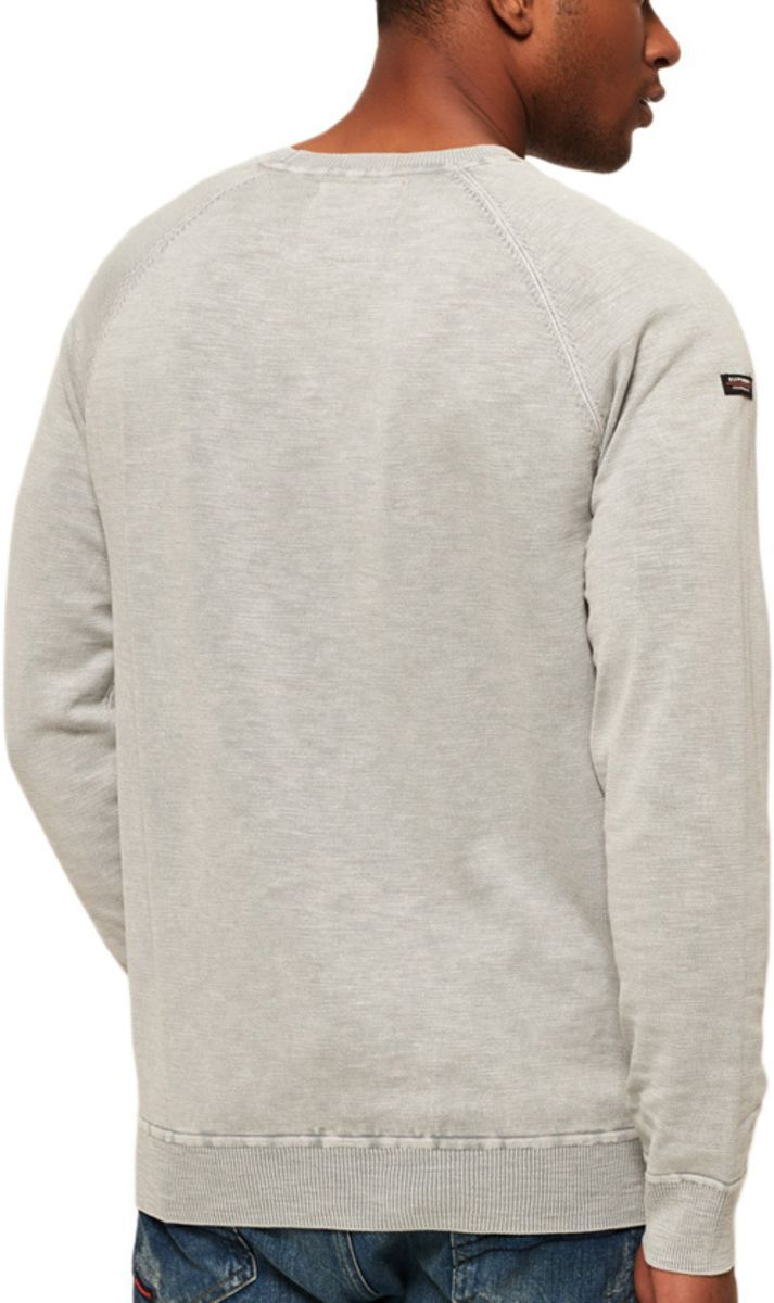 Superdry Garment Dye L.A Knit Jumper Grey