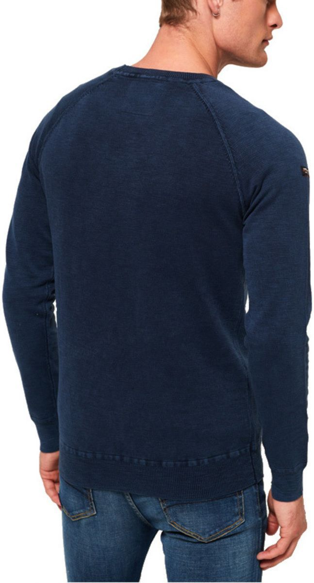 Superdry Garment Dye L.A Knit Jumper Navy
