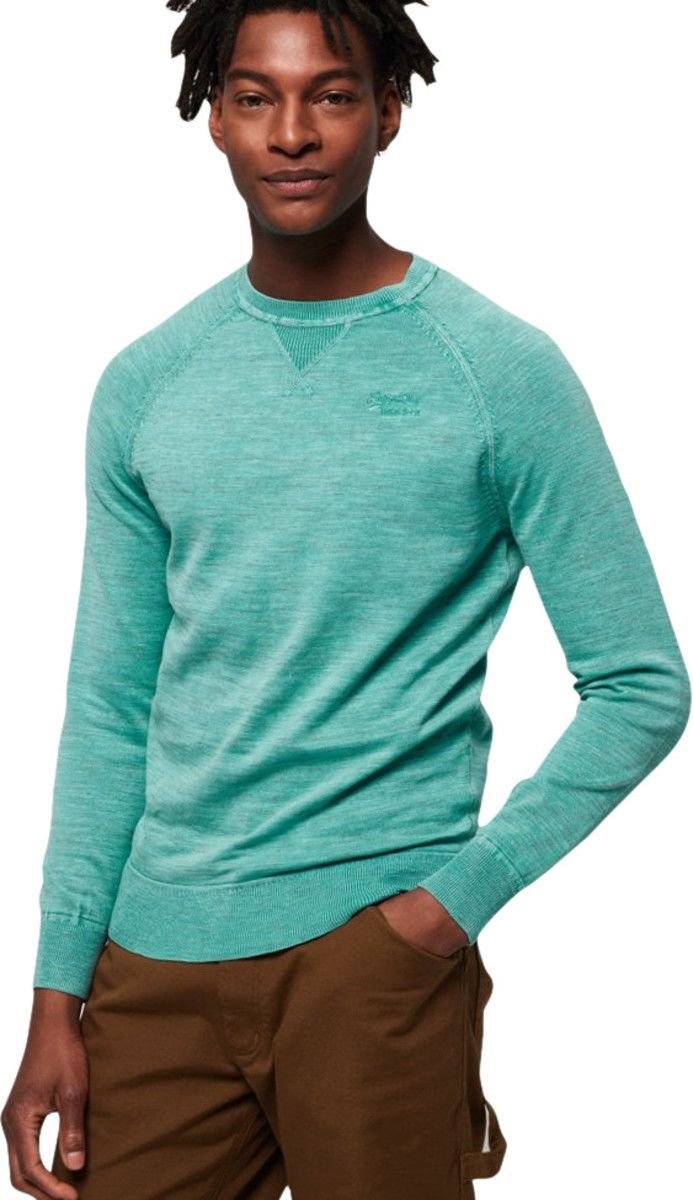 Superdry Garment Dye L.A Knit Jumper Green