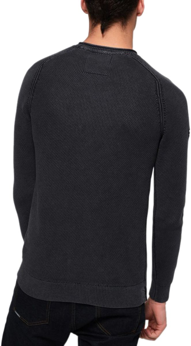 Superdry Garment Dye L.A. Textured Knit Jumper Grey