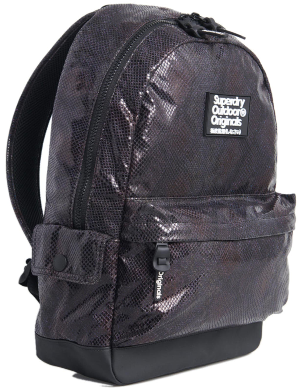Superdry Glitter Scale Montana Backpack Bag Black