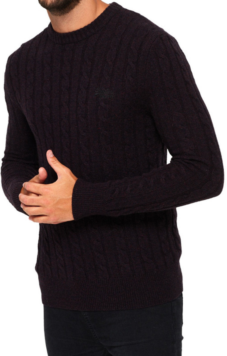Superdry Harlo Cable Knit Crew Neck Jumper