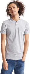 Superdry Heritage Grandad Short Sleeve T-Shirt Grey