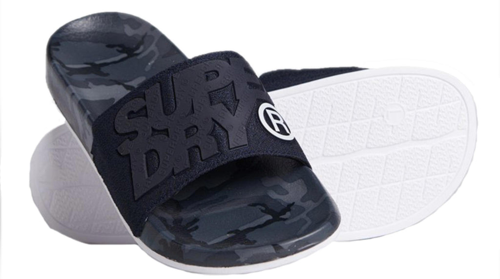 Superdry High Build Pool Sliders	Navy Grit