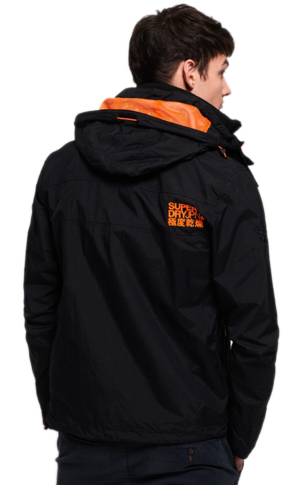 Superdry Hooded Technical Pop Zip Wiindcheater Jacket Black