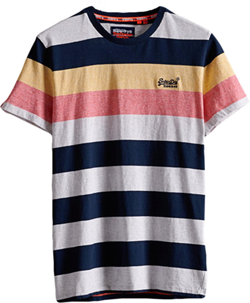 Superdry Hoop Stripe T-Shirt	Eclipse Navy