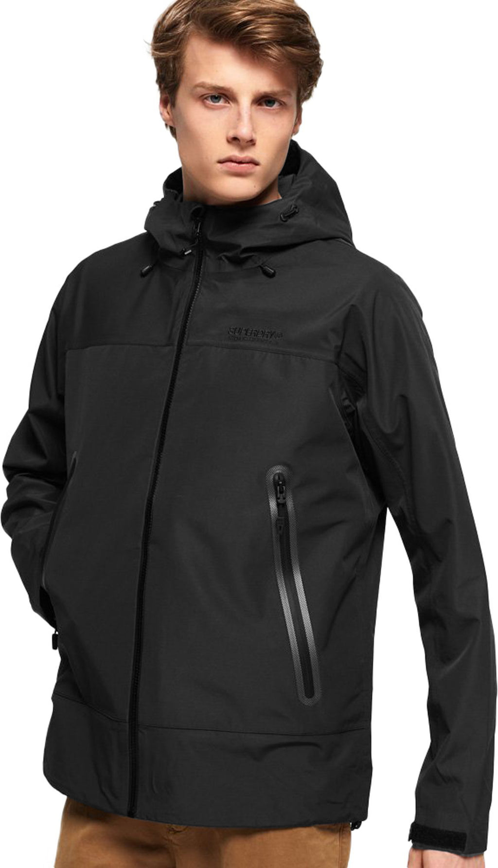Superdry Hydrotech Waterproof Jacket Black