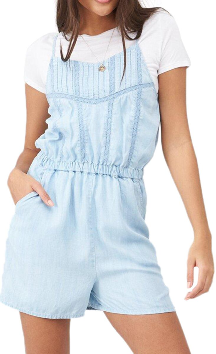 Superdry Indie Lace Cami Playsuit Light Blue