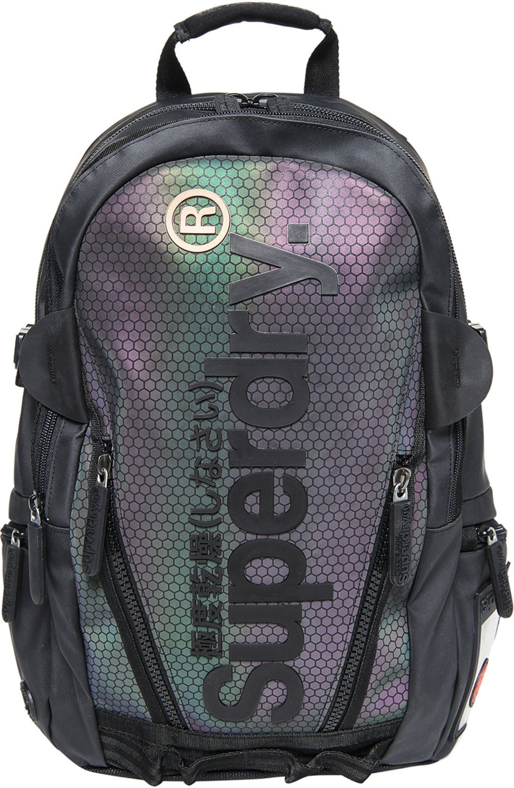 Superdry Irridescent Honey Tarp Backpack Bag Multicoloured