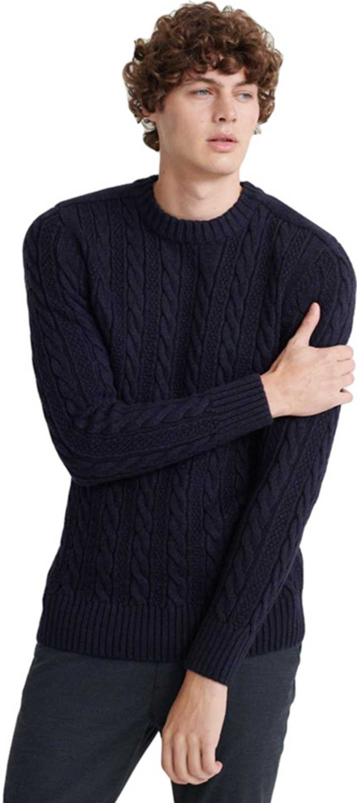 Superdry Jacob Cable Knit Jumper Navy