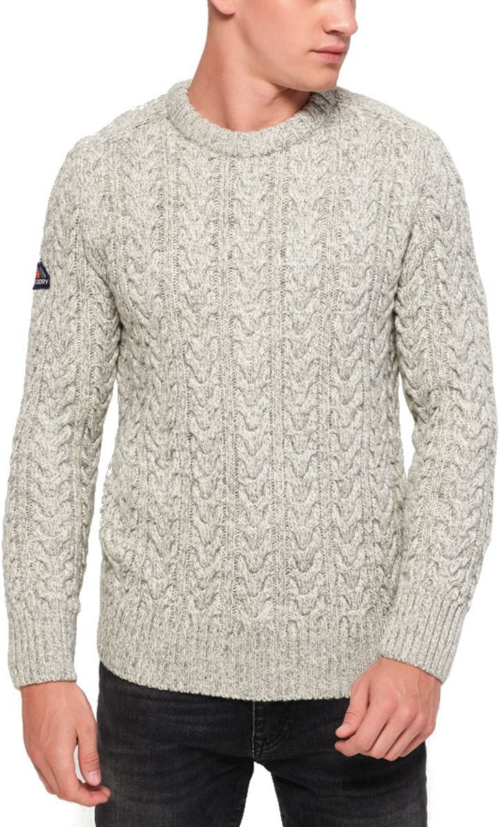 Superdry Jacob Crew Knit Jumper Light Grey