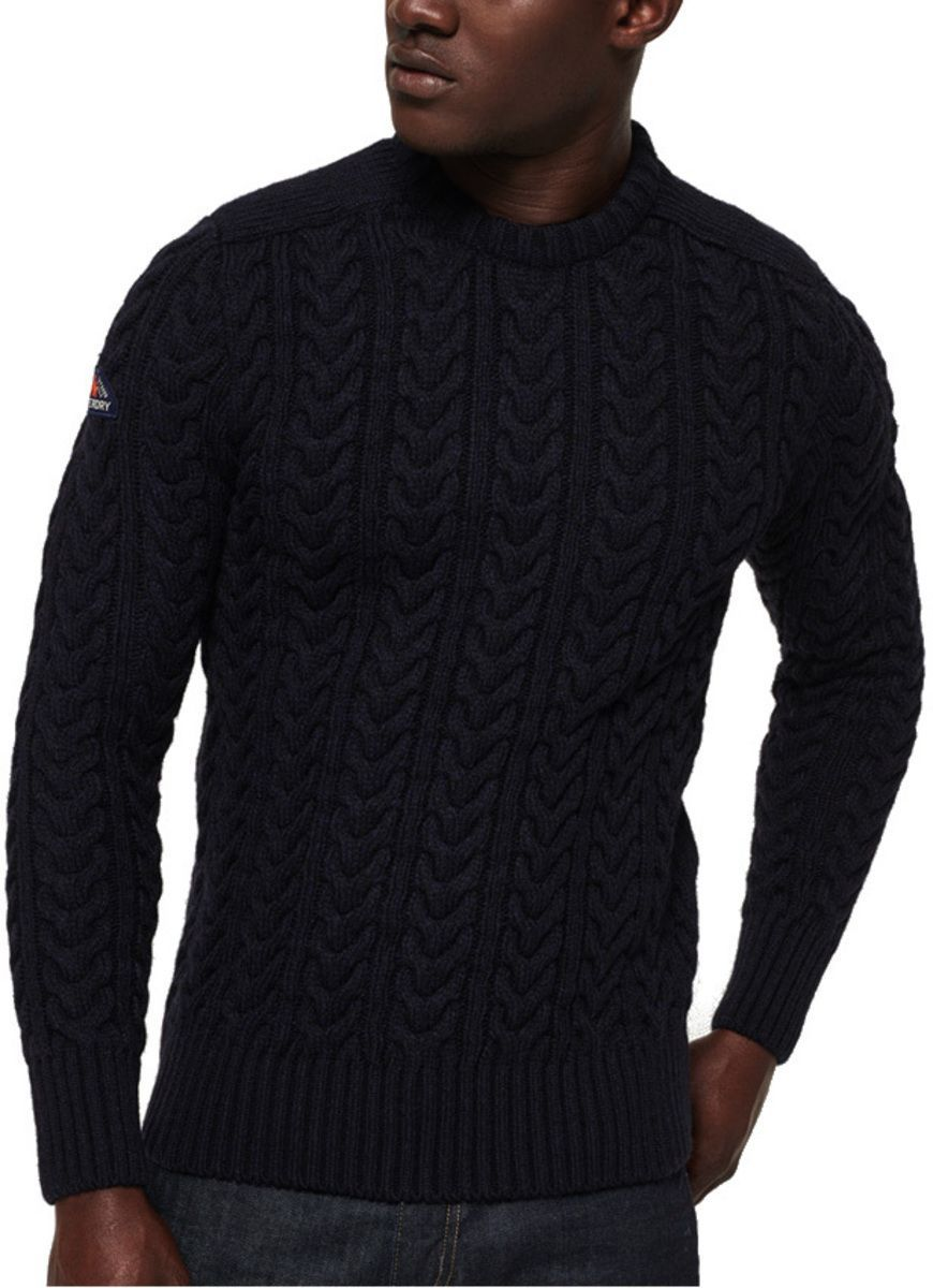 Superdry Jacob Crew Knit Jumper Navy
