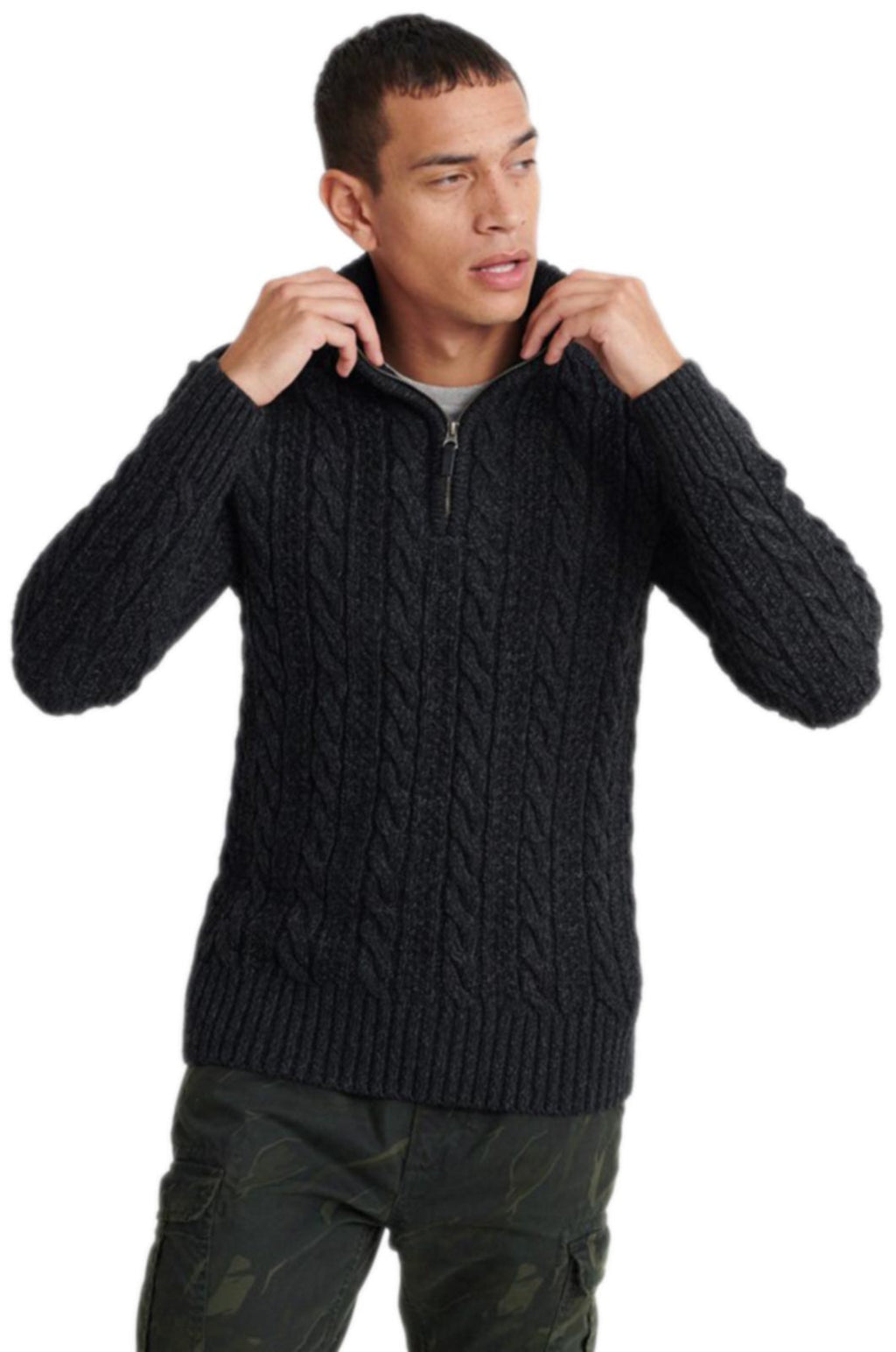 Superdry Jacob Henley Jumper Black