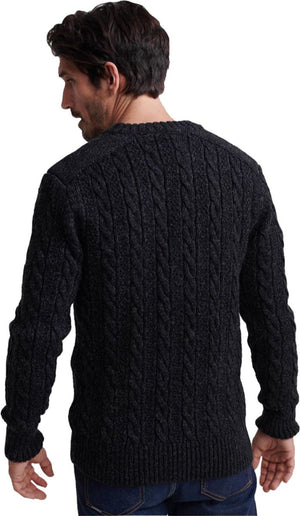 Superdry Jacob Knit Jumper Black