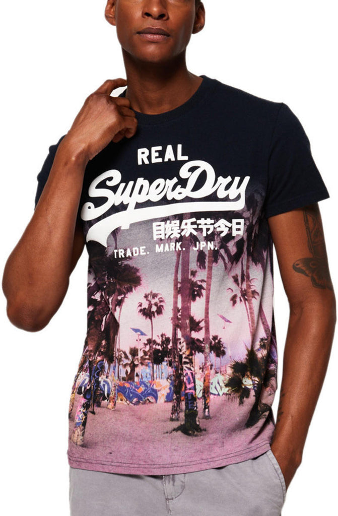Superdry Logo Photographic T-Shirt