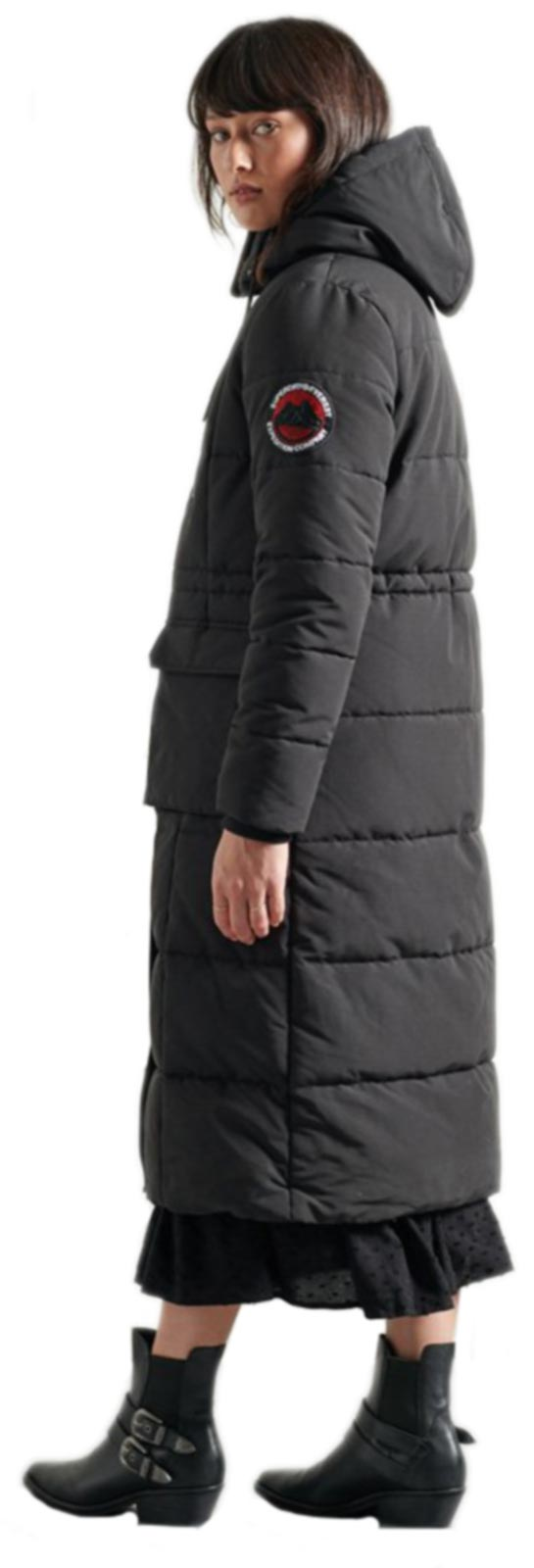 Superdry Longline Everest Coat Black