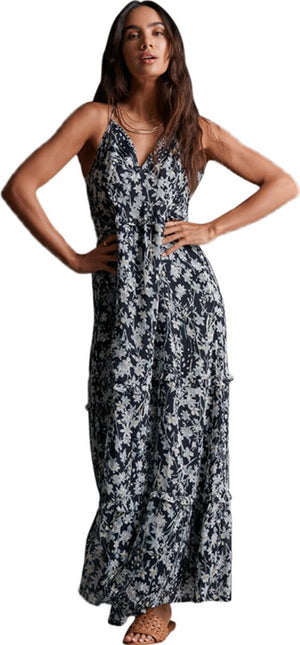 Superdry Margaux Maxi Dress Navy