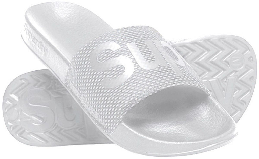 Superdry Mesh Beach Sliders White