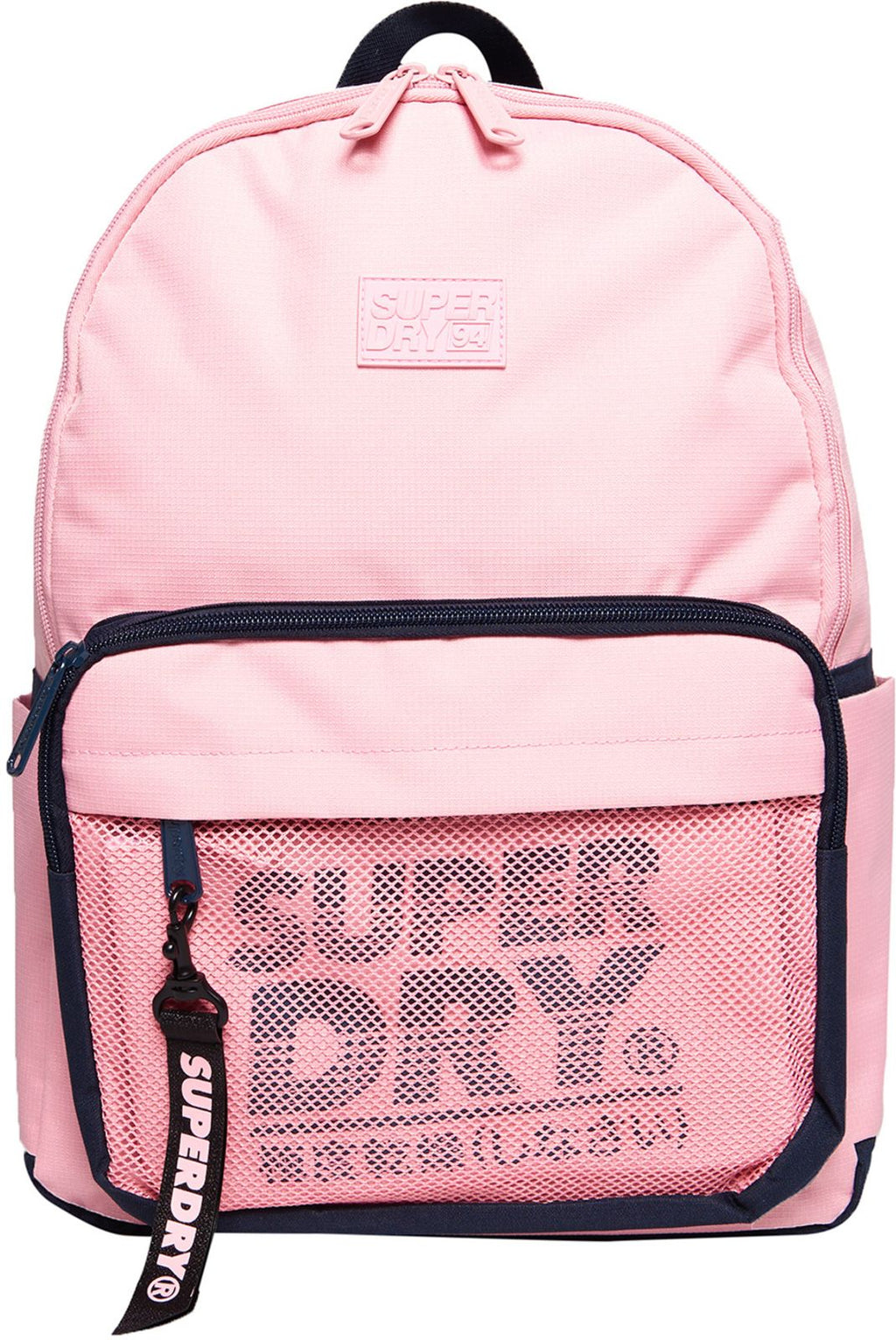 Superdry Mesh Pocket Backpack Bag Pink Nectar