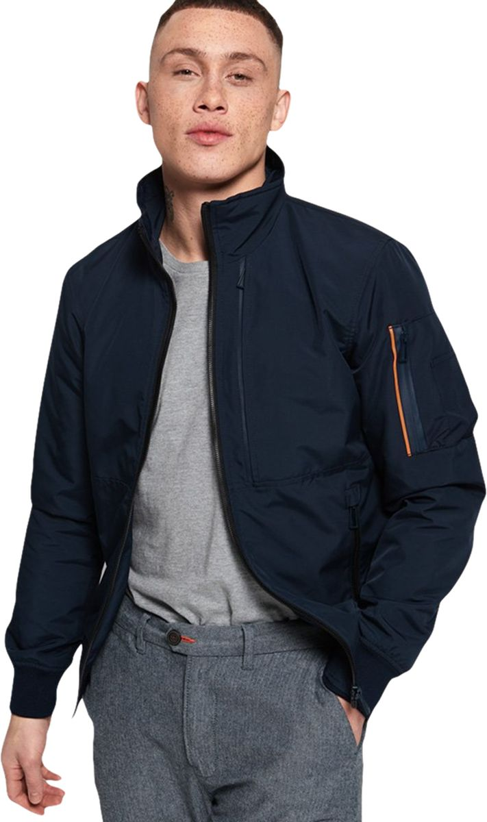 Superdry Moody Light Bomber Jacket Navy