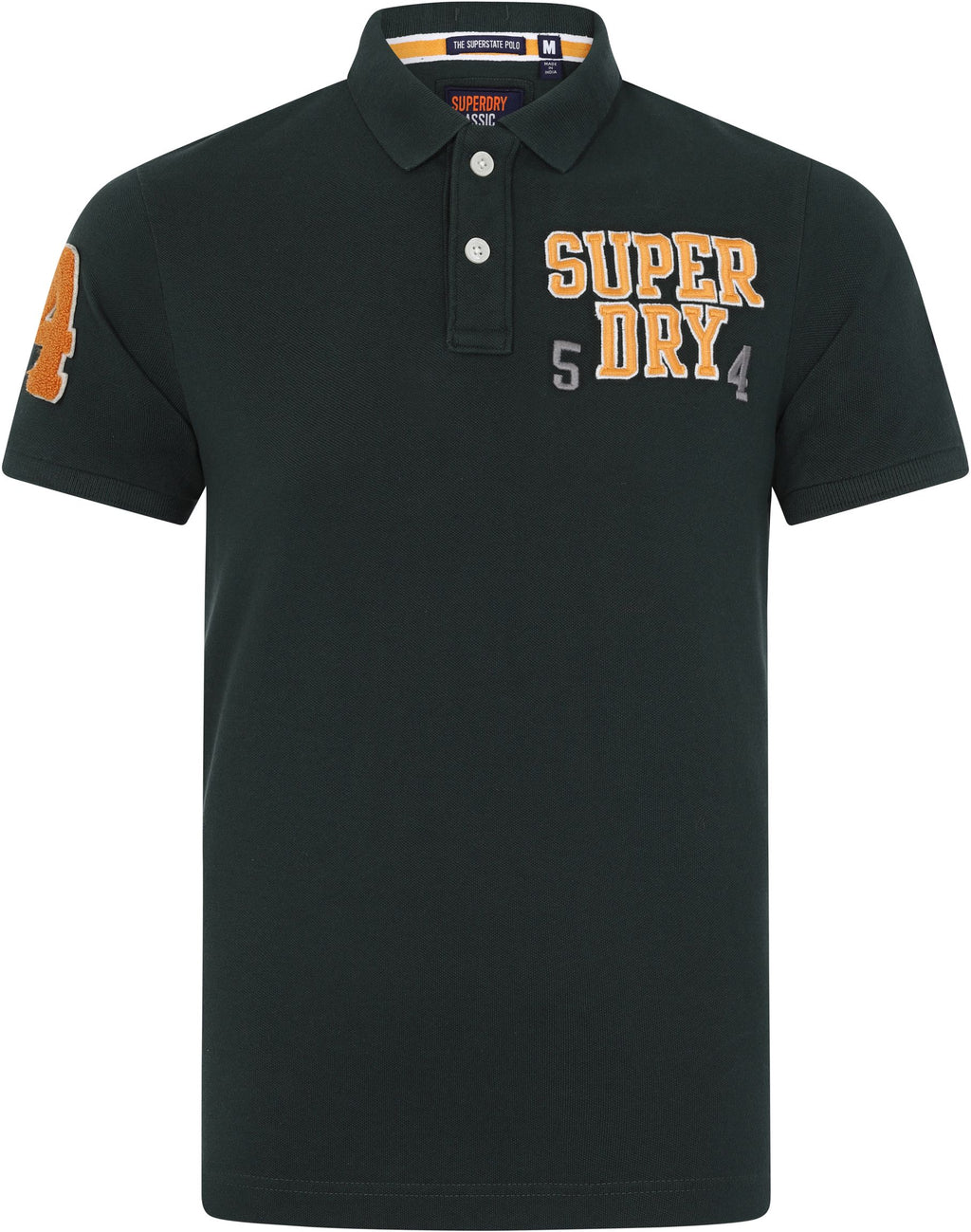 Superdry Oldskool Superstate Pique Polo Shirt Green