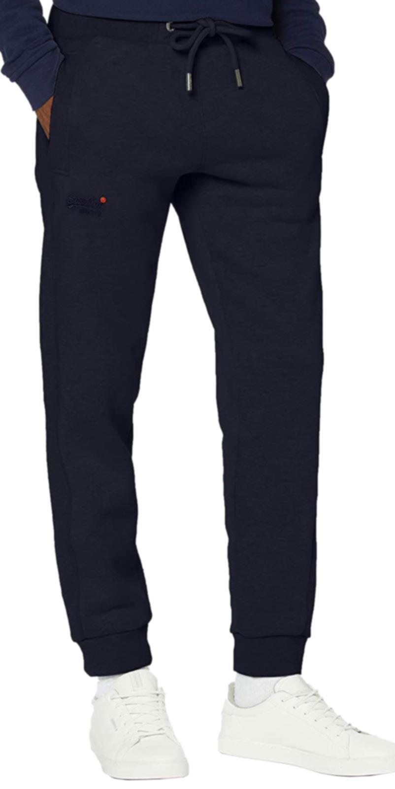 Superdry Orange Label Classic Jogger Bottoms Navy