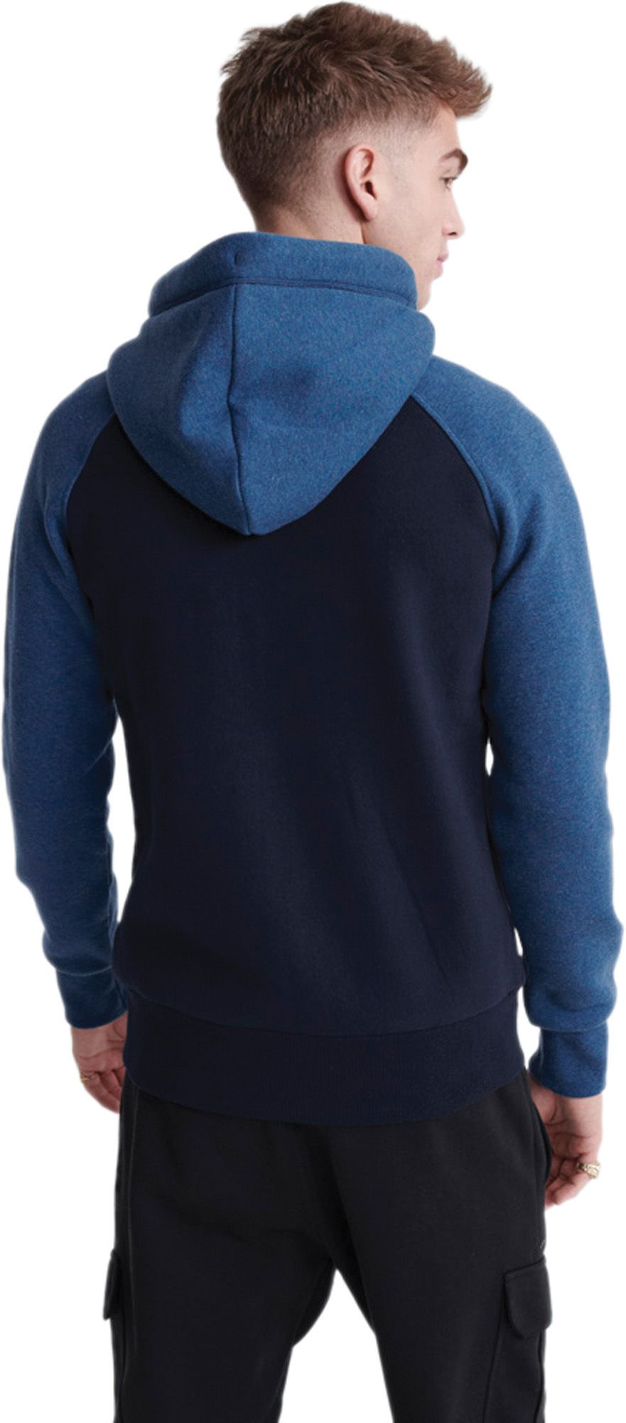 Superdry Orange Label Classic Raglan Zip Hoodie Blue