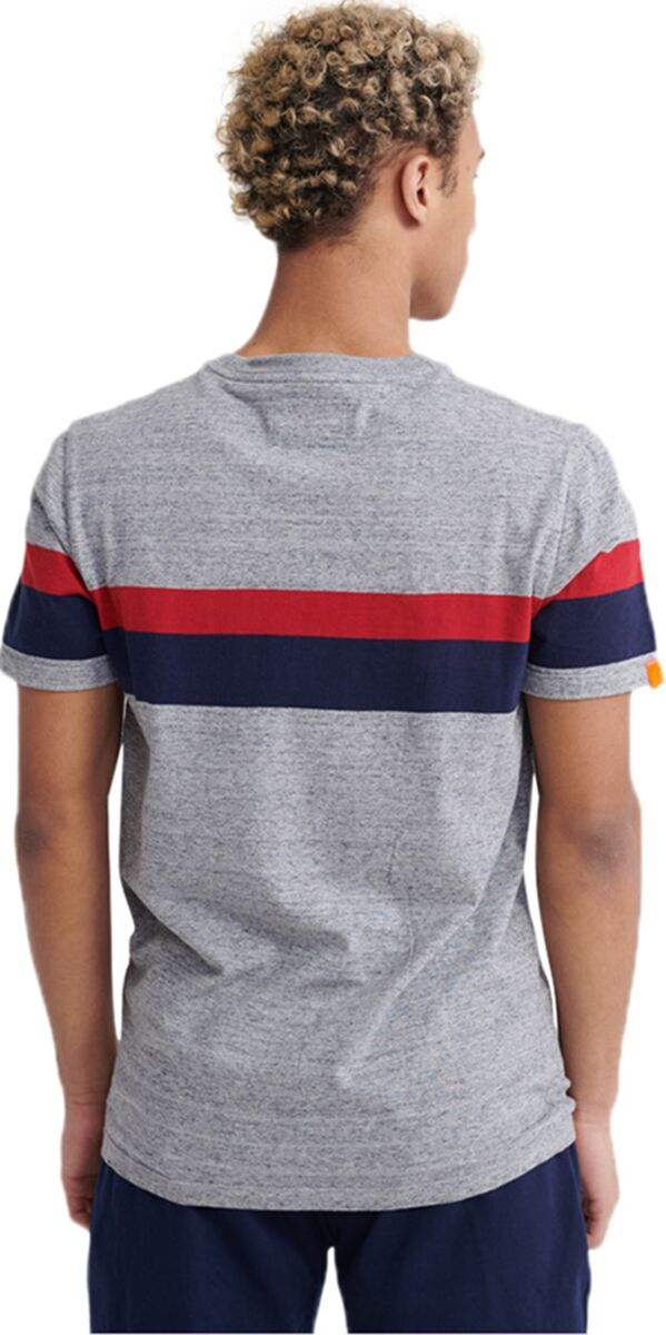 Superdry Orange Label Classic Wide Stripe T-Shirt Charcoal