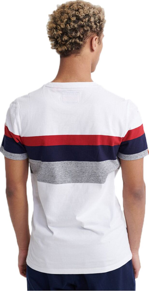 Superdry Orange Label Classic Wide Stripe T-Shirt White