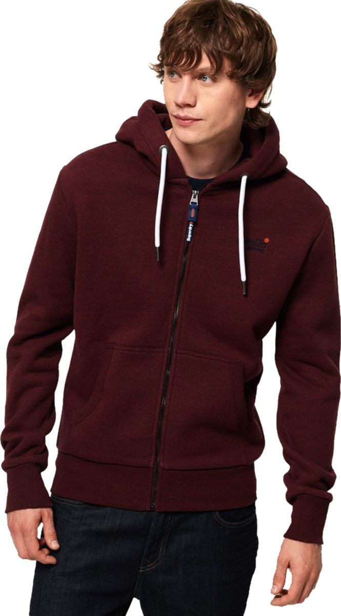 Superdry-Orange-Label-Classic-Zip-Front-Hoodie-Red