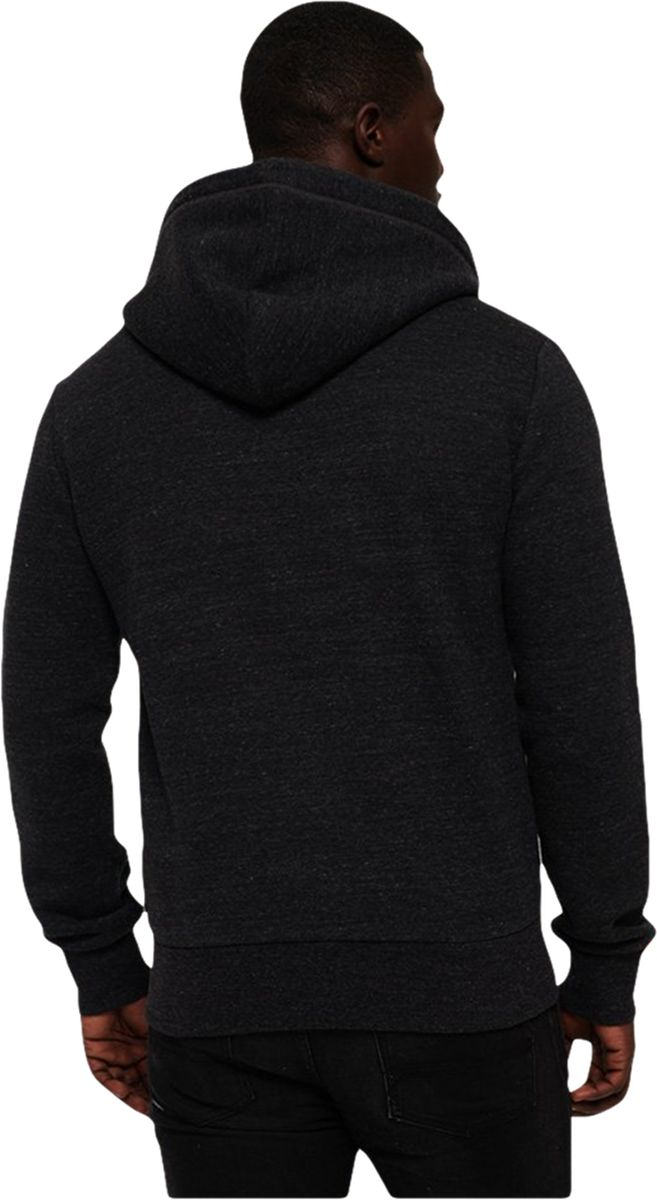 Superdry Orange Label Classic Zip Front Hoodie Black