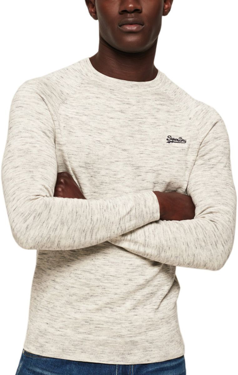 Superdry Orange Label Cotton Knit Jumper Off-White