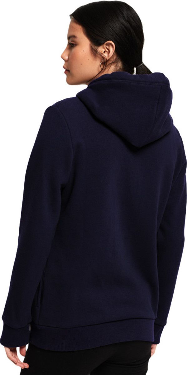 Superdry Orange Label Elite Zip Front Hoodie Navy