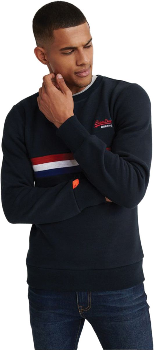 Superdry Orange Label Engineered Sweatshirt Blue