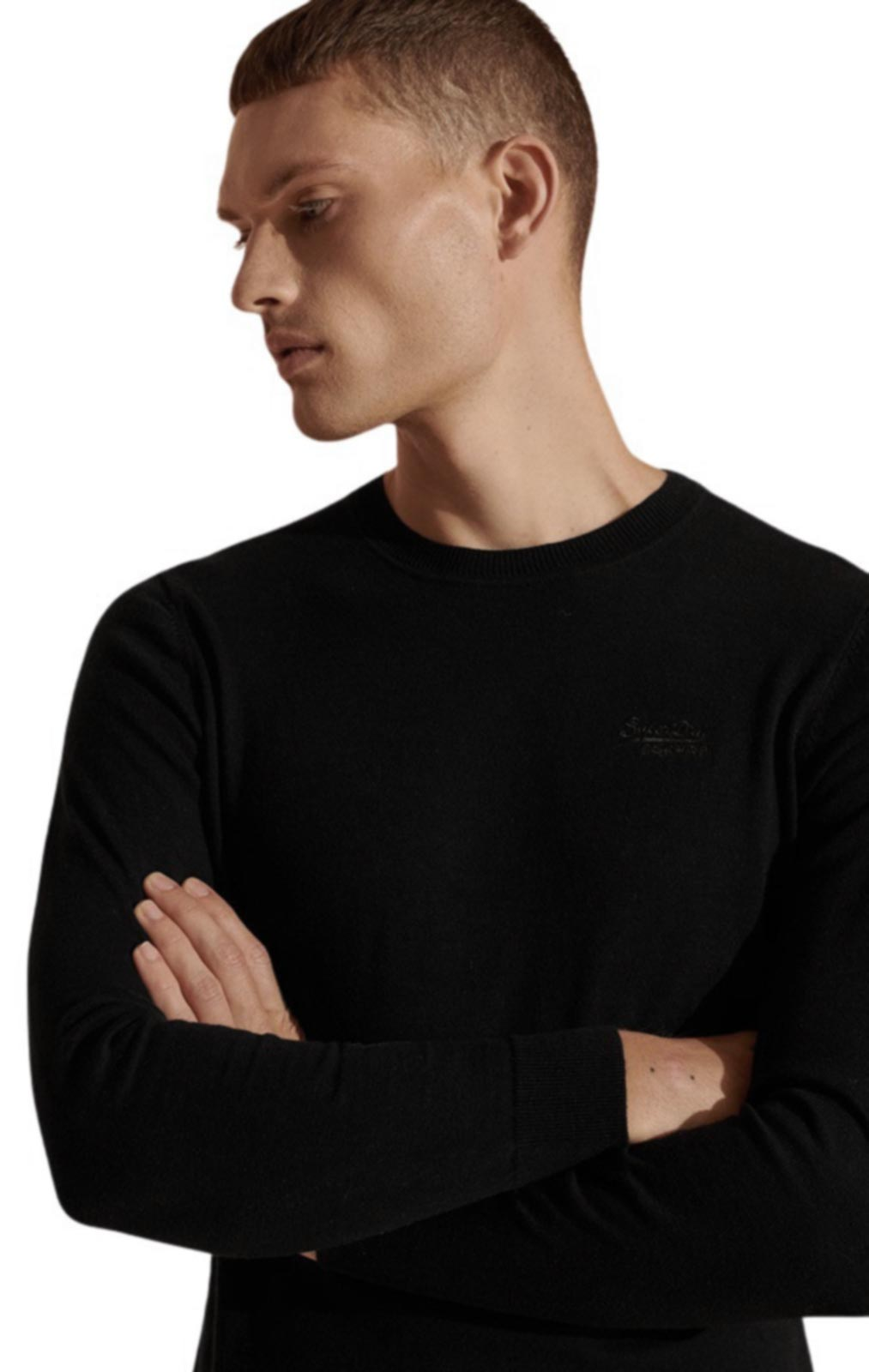 Superdry Orange Label Jumper Black