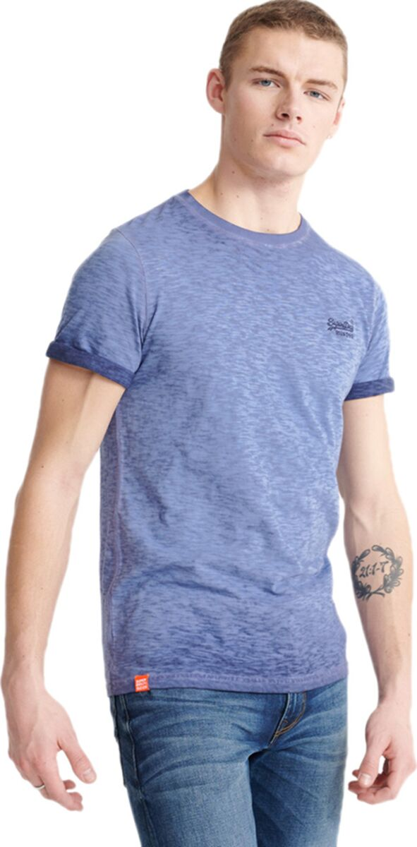 Superdry Orange Label Low Roller T-Shirt Navy