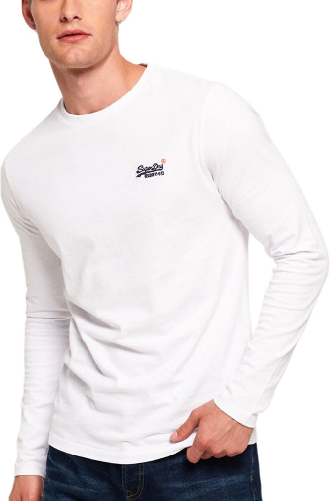 Superdry Orange Label Vintage Emb Long Sleeve T-Shirt White