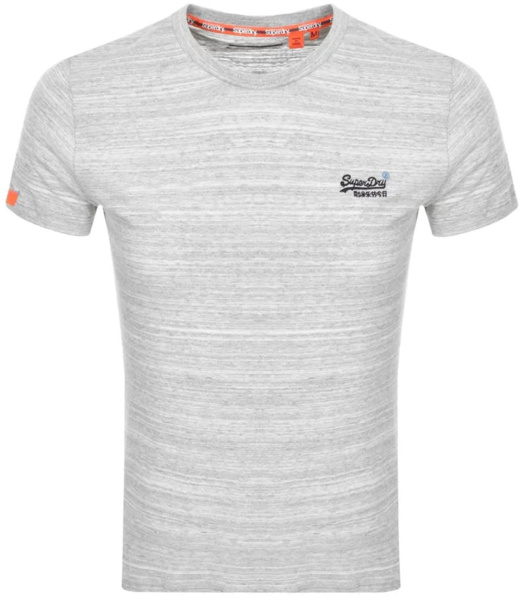 Superdry Orange Label Vintage Emb T-Shirt Desert Grey Space Dye