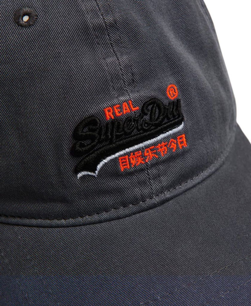 Superdry Orange Label Wash Twill Cap Grey