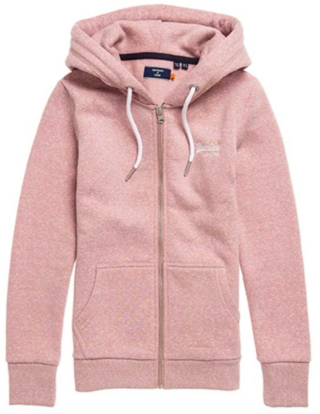 Superdry Orange Label Zip Hoodie	Sandy Pink Snowy