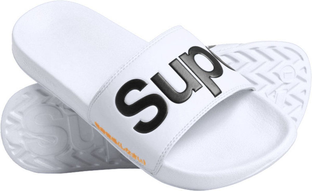 Superdry Original Pool Sliders White
