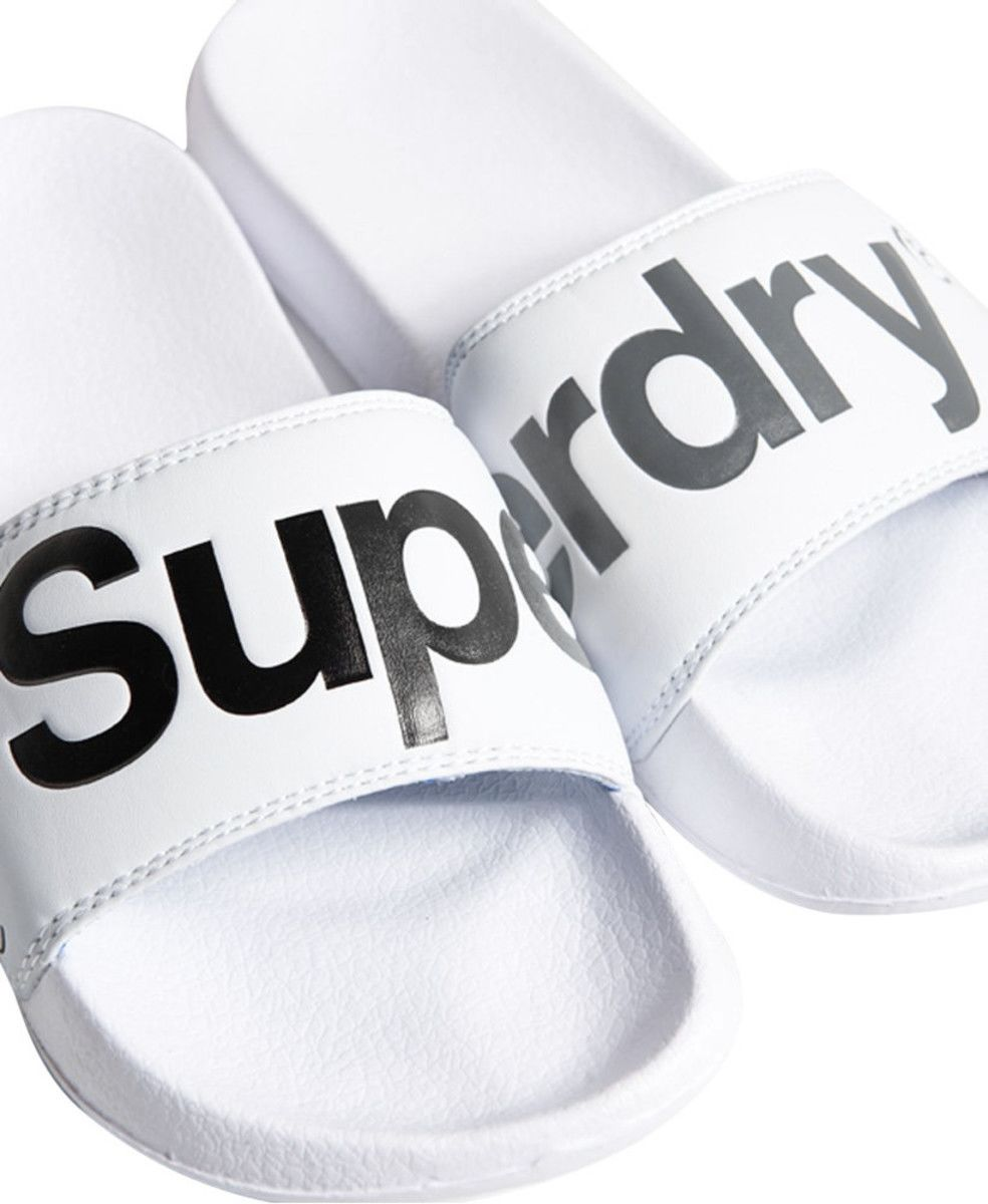 Superdry Pool Sliders White