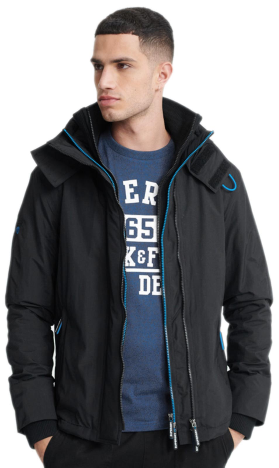 Superdry Pop Zip Arctic SD-Windcheater Jacket Black