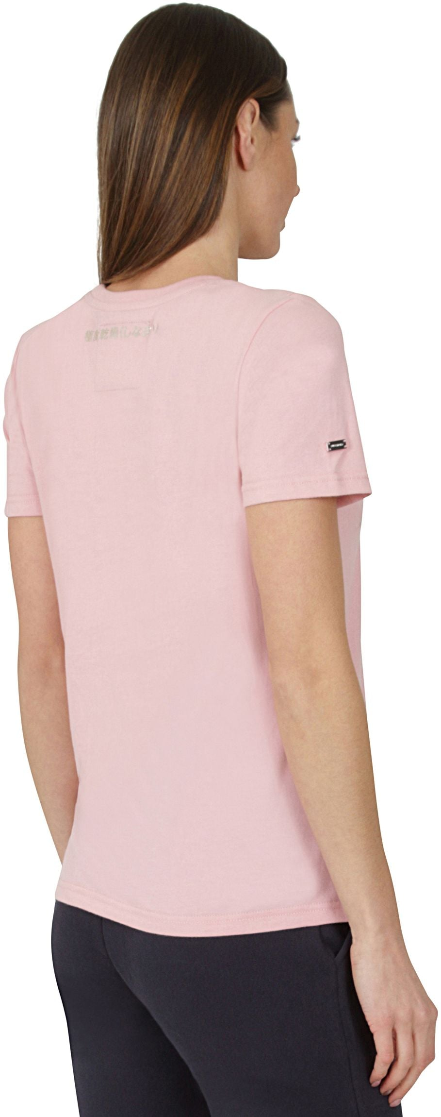 Superdry Premium Goods Luxe Embroidered T-Shirt Pink Nectar
