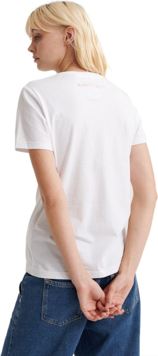 Superdry Premium Goods Luxe Embroidered T-Shirt White